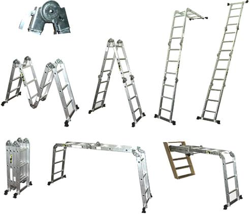 Todoferreteria escalera plegable articulada de aluminio - Escaleras de mano ...