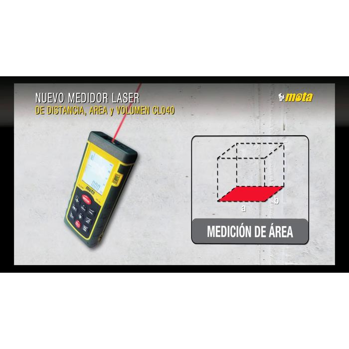 Todoferreteria medidor de distancia laser mota cl040 for Medidor de distancia laser