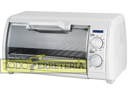 Todoferreteria horno el ctrico black decker tro421 for Horno electrico black decker