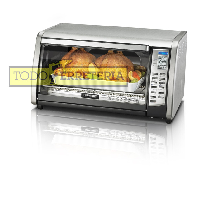 Todoferreteria horno electrico black decker cto6302 for Horno electrico black decker
