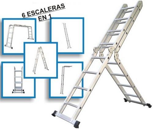Todoferreteria escalera articulada de aluminio nacional for Escaleras articuladas de aluminio