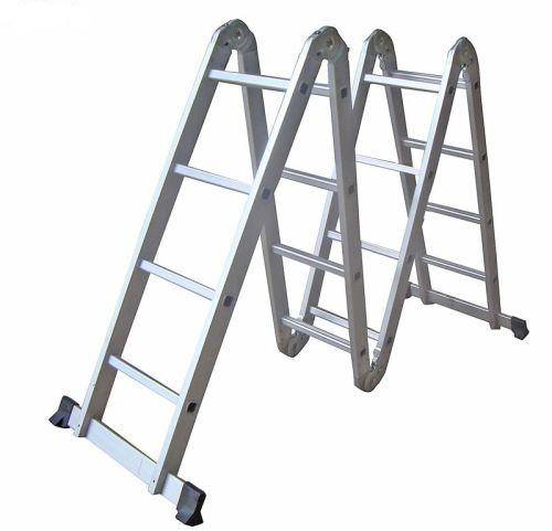 Todoferreteria escalera plegable articulada de aluminio for Escalera plegable homecenter