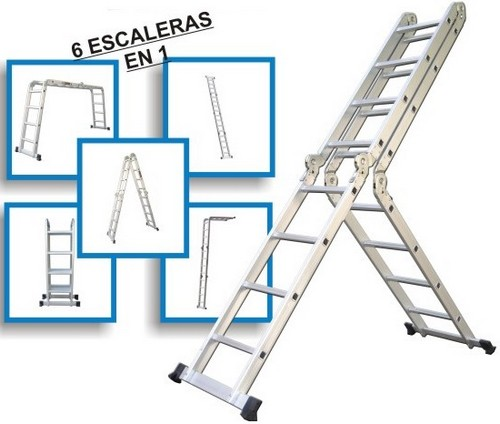 Todoferreteria escalera 5x4 plegable articulada de for Escalera aluminio plegable easy