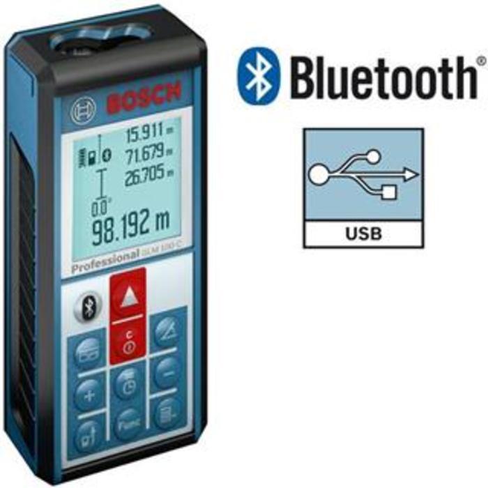 Todoferreteria medidor de distancia laser bosch glm 100 c - Medidor de distancia ...