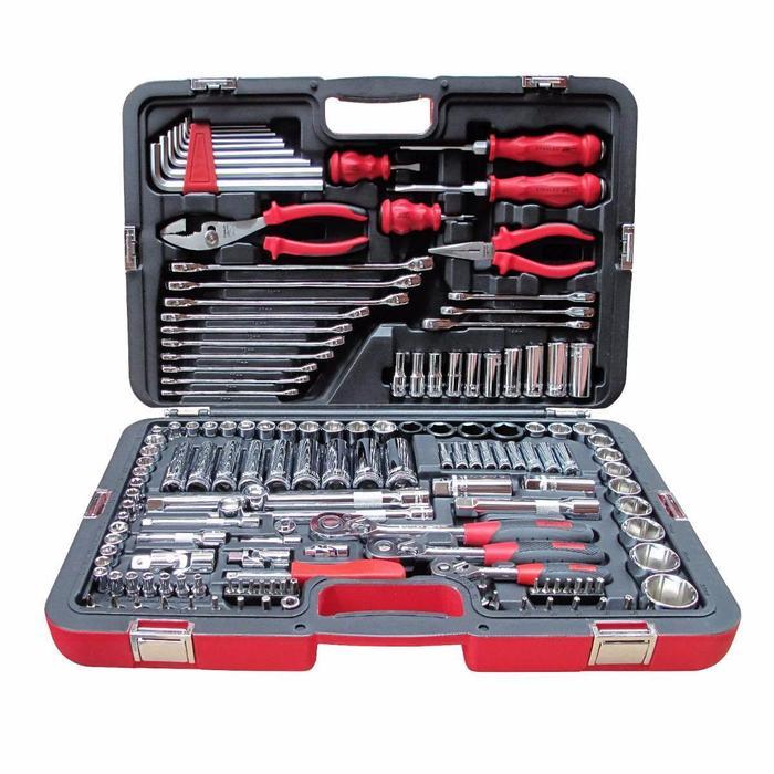 Todoferreteria juego de tubos y llaves 150 piezas - Caja herramientas stanley ...
